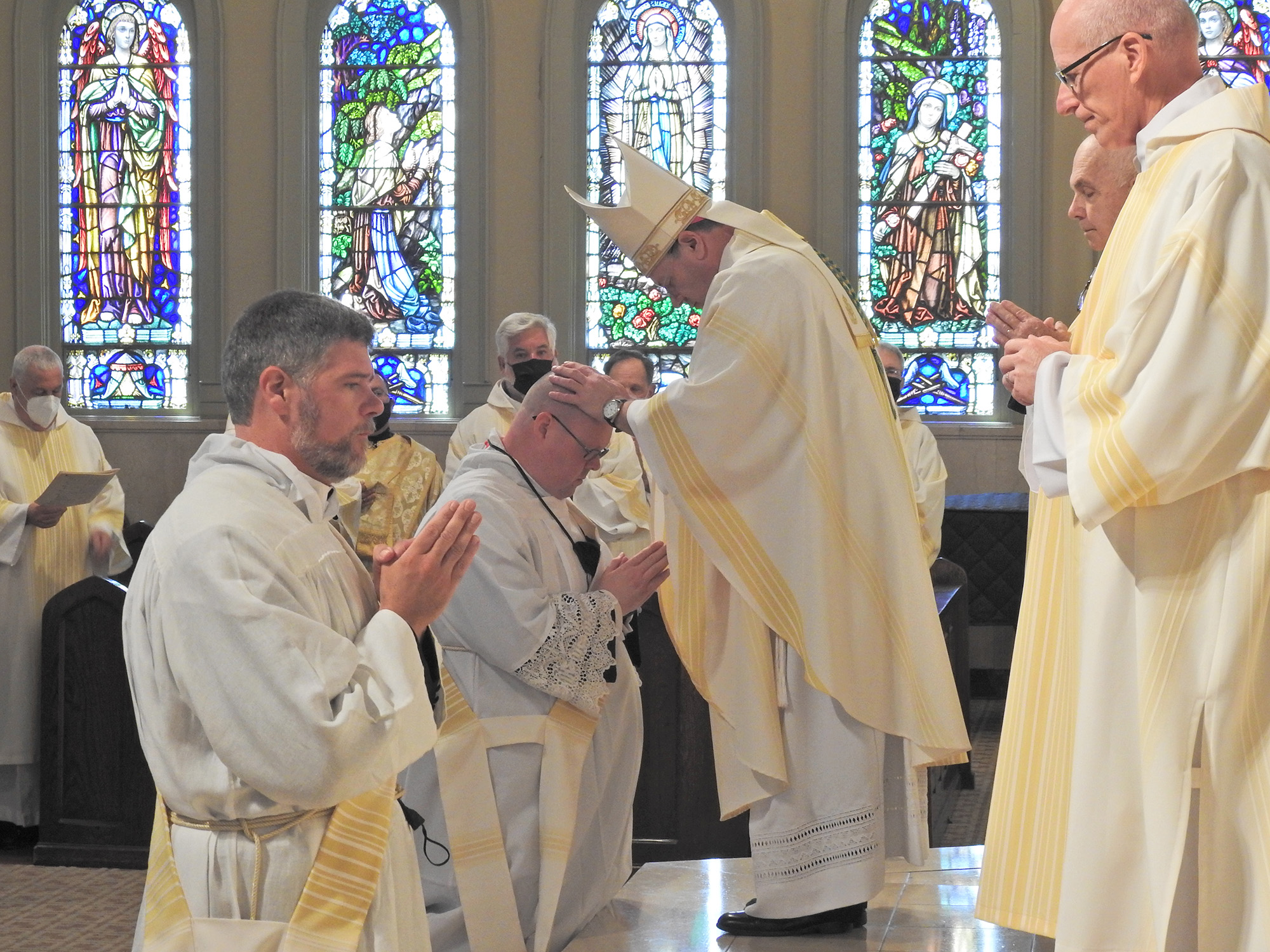 Robert Johnson and Thomas Kennedy were ordained to the holy priesthood on May 22, 2021 at St. Francis Xavier Cathedral in Alexandria.